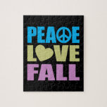 Caída del amor de la paz puzzles