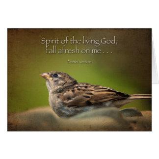 Caída del Espíritu Santo de nuevo en mí Tarjeta De Felicitación