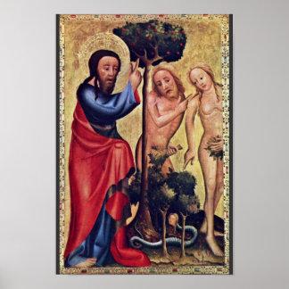 Caída del hombre de Meister Bertram Von Minden (el Poster