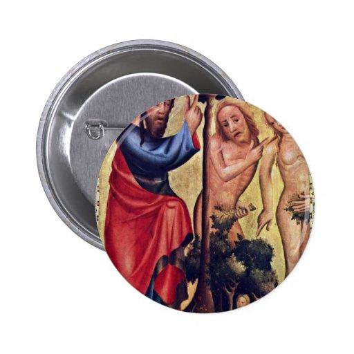 Caída del hombre de Meister Bertram Von Minden (el Pin Redondo 5 Cm
