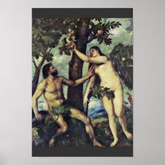 Caída del hombre por Tizian Impresiones