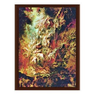 Caída del infierno del maldecido por Rubens Peter  Postal