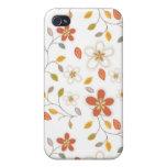 caída del modelo del caso del iPhone 4 floral iPhone 4 Fundas