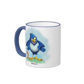 Caída del pájaro taza de café