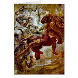 Caída del Phaethon de Peter Paul Rubens Tarjetón