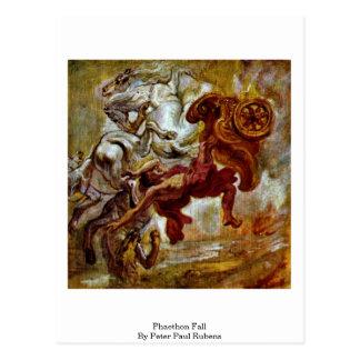 Caída del Phaethon de Peter Paul Rubens Tarjeta Postal
