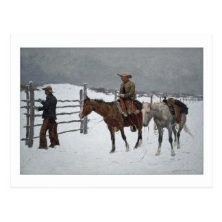Caída del vaquero de Federico Remington Postales