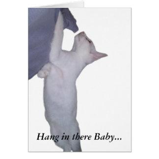 Caída en allí bebé tarjeta pequeña