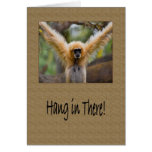 Caída en allí mono del Gibbon con la extensión de  Tarjeta De Felicitación