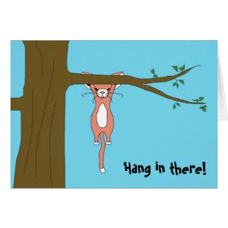 Caída en allí tarjeta de felicitación con la melco