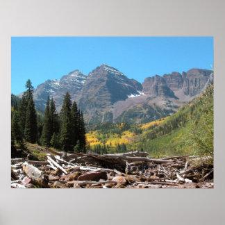 Caída en Belces marrón Colorado Póster
