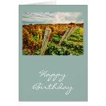 Caída en el cielo del viñedo tarjeta de felicitación