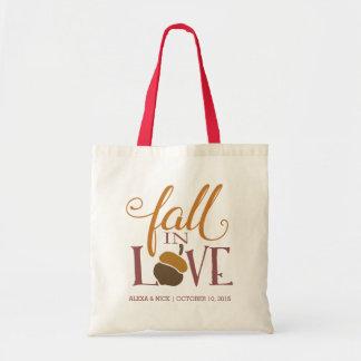 Caída en favor del boda de la bellota del otoño bolsa tela barata