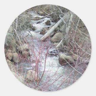 Caída en la South Hills Pegatina Redonda