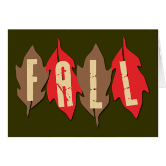 Caída en las hojas felicitaciones