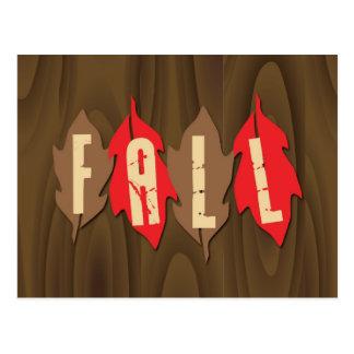 Caída en las hojas tarjetas postales