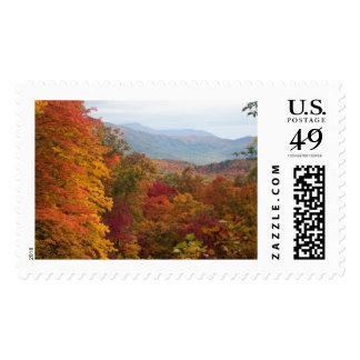 Caída en las montañas ahumadas timbre postal