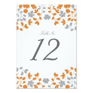 """Caída en tarjeta del número de la tabla del boda invitación 5"""" x 7"""""""
