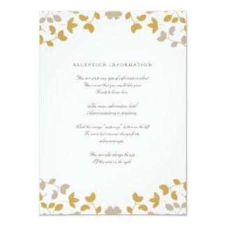 """Caída en tarjeta del parte movible del boda del invitación 4.5"""" x 6.25"""""""