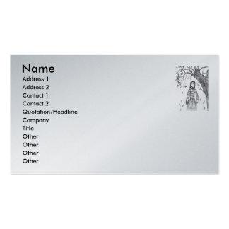 caída espeluznante, nombre, dirección 1, dirección tarjetas de visita