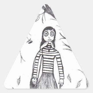 caída espeluznante calcomanía de trianguladas