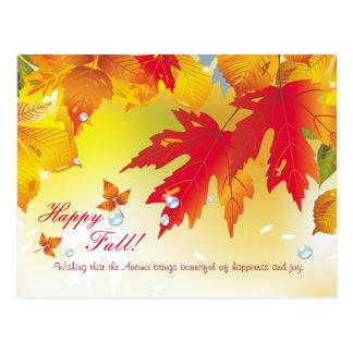 ¡Caída feliz!  Postales hermosas del otoño