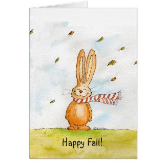Caída feliz - saludos lindos del otoño con el cone tarjeta de felicitación
