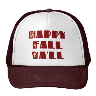 Caída feliz usted gorra