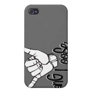 Caída floja - muestra de la mano iPhone 4 funda