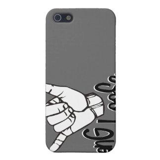 Caída floja - muestra de la mano iPhone 5 carcasa