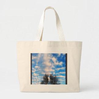 Caída hermosa del cielo azul por amor curativo bolsas
