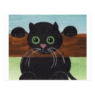 Caída insegura adentro allí, gatito postales