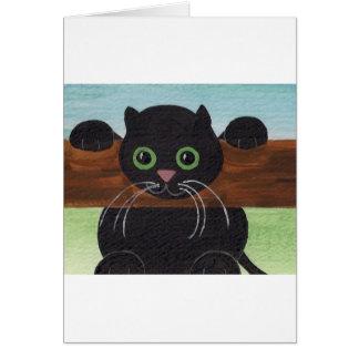 Caída insegura adentro allí, gatito tarjeta de felicitación