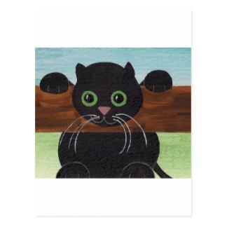 Caída insegura adentro allí, gatito tarjetas postales