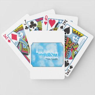 Caída libre para el alma barajas de cartas