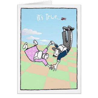 Caída libre tarjeta de felicitación