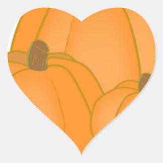 Caída linda de la calabaza de la familia del amigo calcomanía de corazón