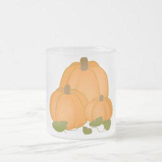 Caída linda de la calabaza de la familia del amigo taza de cristal