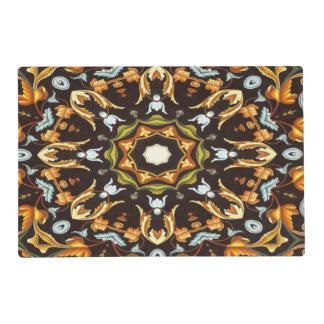 caída marrón anaranjada del otoño del modelo tapete individual