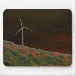 Caída Mousepad de la turbina de viento de la energ Tapetes De Ratones
