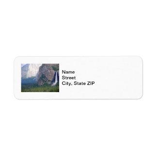 Caída nupcial del velo de Yosemite Etiqueta De Remitente