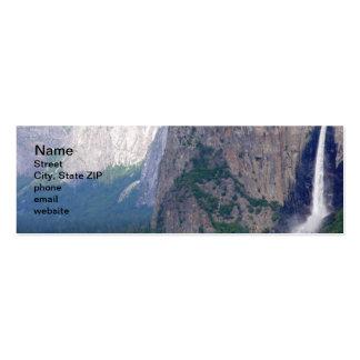 Caída nupcial del velo de Yosemite Tarjetas De Visita Mini