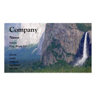Caída nupcial del velo de Yosemite Tarjetas De Visita