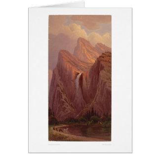 Caída nupcial del velo, valle de Yosemite (0128A) Tarjeta De Felicitación