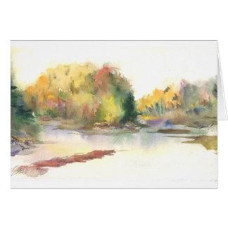 Caída, pareciendo del norte en el río de Nooksack Tarjeta De Felicitación