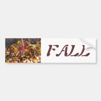 Caída - rastrillo de la cosecha de la hoja fotogr pegatina de parachoque