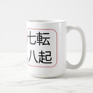 Caída siete veces se levantan ocho tazas de café