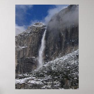 Caída superior de Yosemite Póster