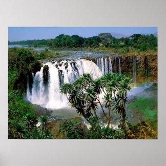 Caídas azules del Nilo Posters
