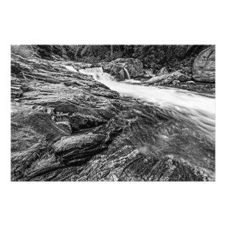Caídas B&W del río de Kaweah Fotografía